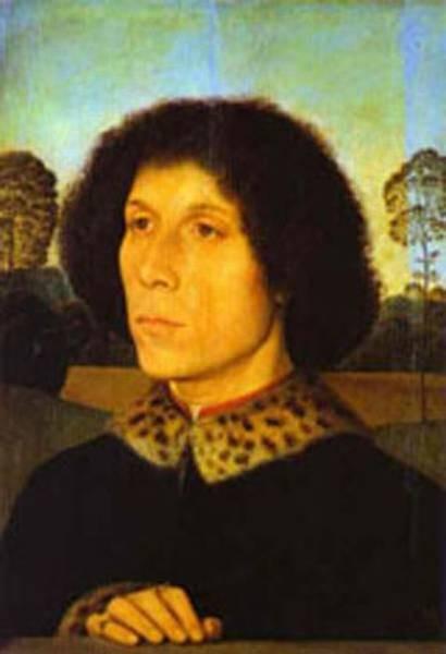 portrait of a man in a landscape XX galleria degli uffizi florence italy